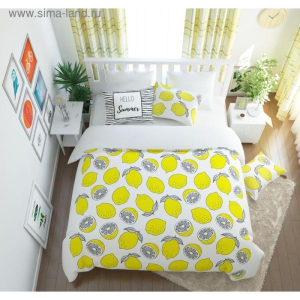 КПБ «Лимонный фреш» евро, размер 220 × 240 см, 200 × 220 см, 50 × 70 см-2 шт