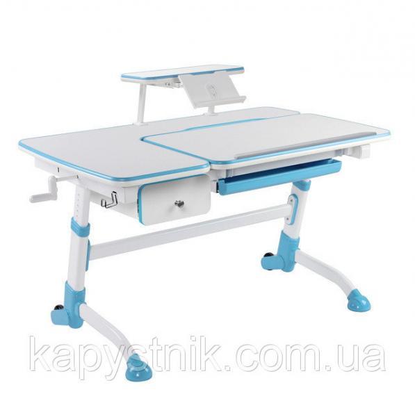 Детский стол  Amare Blue с выдвижным ящиком + полка для книг SS16 Blue