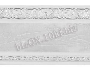 Бленда   Ажур «Мрамор + Серебро», ширина = 7 см, Декоративная лента для потолочного карниза