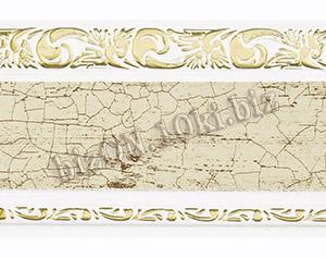 Бленда   Ажур «Кракелюр 362», ширина = 7 см, Декоративная лента для потолочного карниза