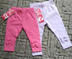 Фото Джинсы, лосины, штаны Фирменные лосинки для девочки с бантом 74-86 см