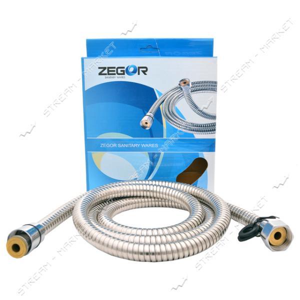ZEGOR Шланг для душа WKR-006 1, 5 м. (растяжной, коробка) (поворотная гайка)