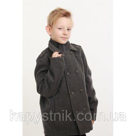 Пальто для мальчика серое Minoti (Англия) р.98-158