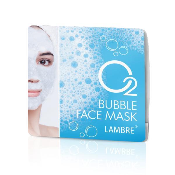 Маска для лица пузырьковая с сильным кислородным действием О2 BUBBLE FACE MASK 2x8 ml