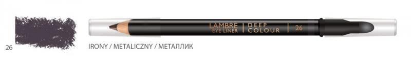 Карандаш для глаз LAMBRE Deep Colour Eye Liner №26 Irony/Металик