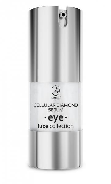 Активная сыворотка для кожи вокруг глаз с алмазами Cellular Diamond Serum Eye LUXE Collection 20мл