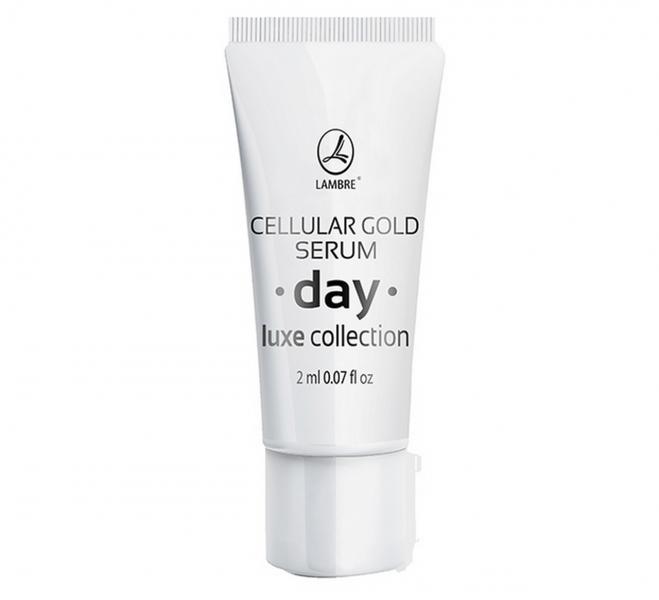 ТЕСТЕР Активная дневная сыворотка с частицами золота Cellular Gold Serum Day LUXE Collection 2мл