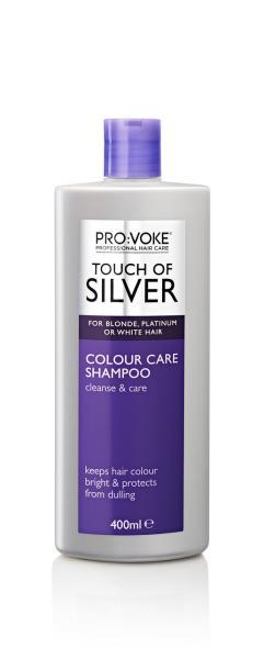 Шампунь с формулой защиты цвета (светлые холодные) PRO:VOKE Touch of Silver Colour Care Shampoo 400ml