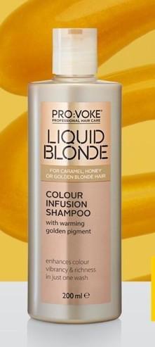 Шампунь для волос усиливающий цвет волос PRO:VOKE  Liquid Blonde Colour Infusion Shampoo 200 ml