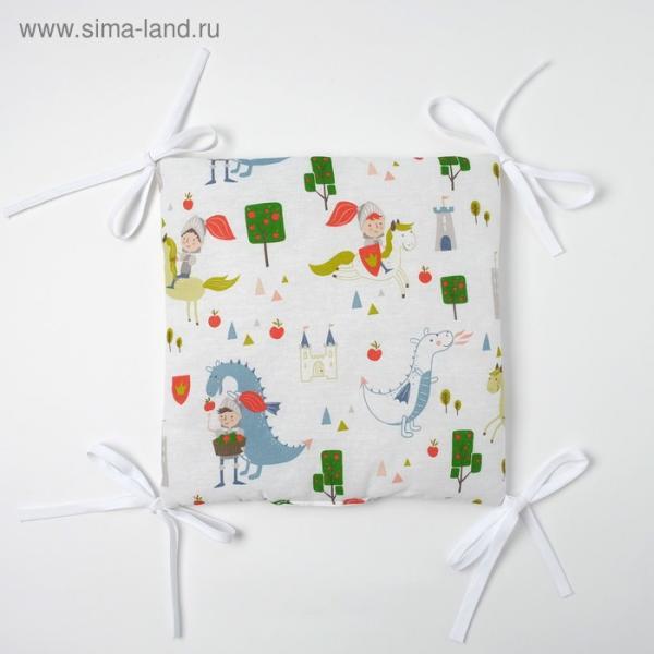 Бортик Крошка Я «Рыцари» (32×32 см - 12 шт.) бязь/синтепон