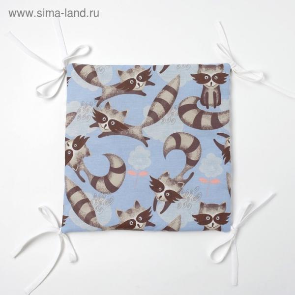 Бортик Крошка Я «Еноты» (32×32 см - 12 шт.) бязь/синтепон