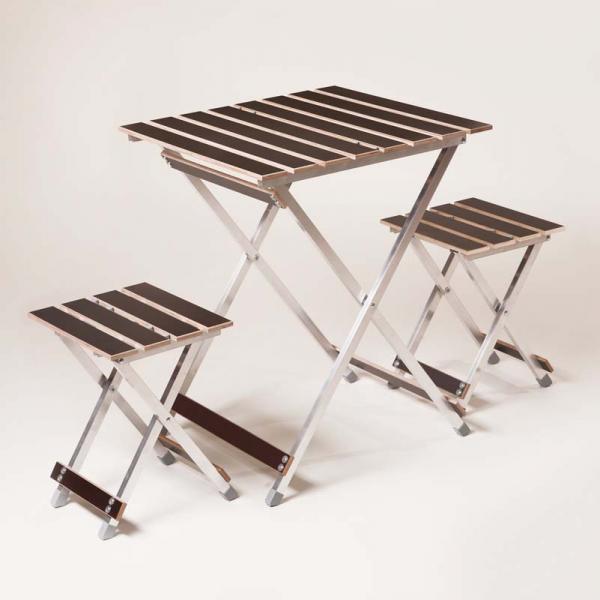 """Комплект """"ALUWOOD малый"""" Стол малый + 2 стула  ( Кол-во ограничено)"""