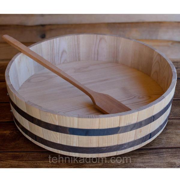 Хангири кадка для риса Seven Seasons дуб 39 см (WT-119-01)