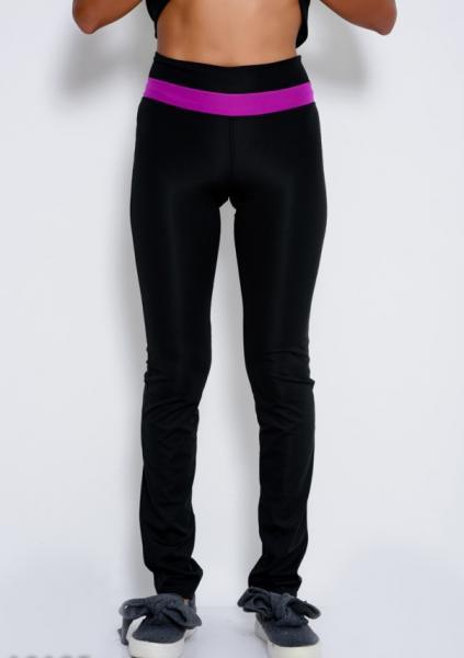 Фото  Спортивные штаны ISSA PLUS 10185  S черный/фиолетовый
