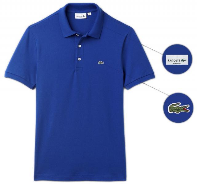 Мужская футболка поло Lacoste (Premium-class) синяя M