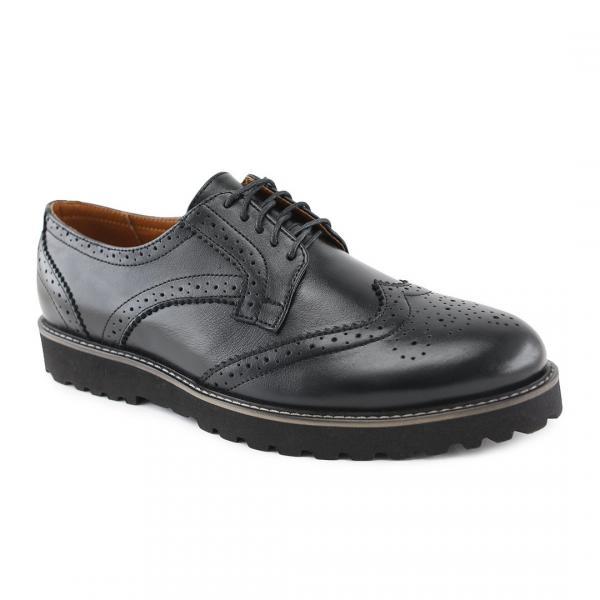 Мужские кожаные туфли оксфорд черные. Харьков