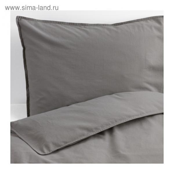 КПБ ЭНГСЛИЛЬЯ, размер 200х200 см, 50х70 см-2 шт., цвет серый
