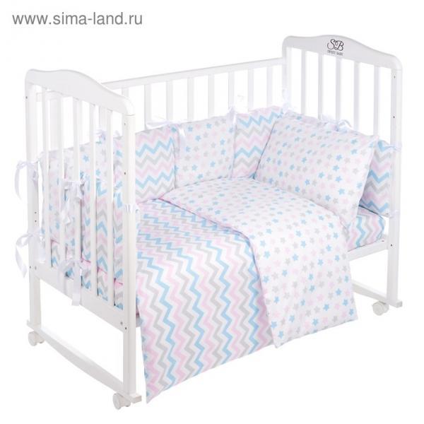 Комплект в кроватку Anastasia, 4 предмета, белый, поплин