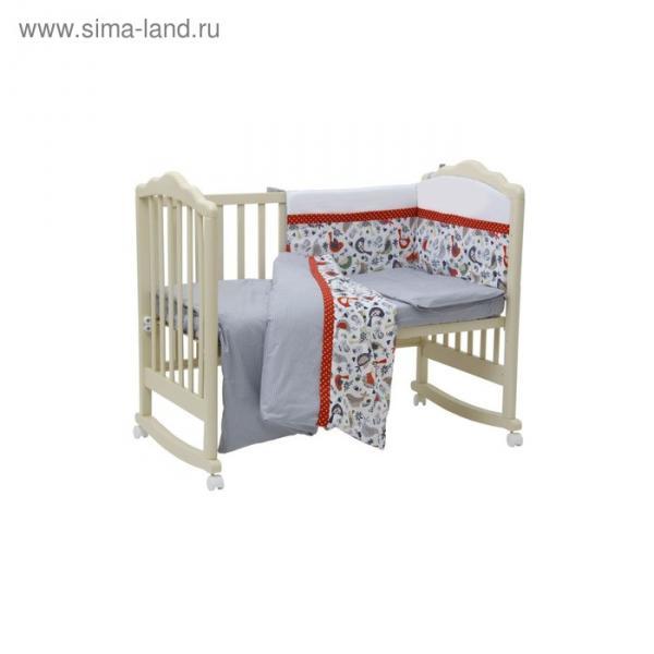 Борт в кроватку «Кантри», размер 37х43 см, цвет красный