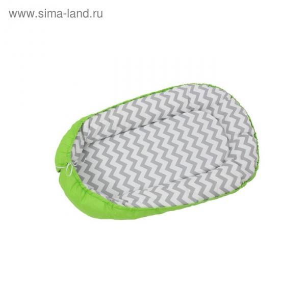 Гнёздышко, размер 54х90 см, цвет зелёный, принт зигзаг