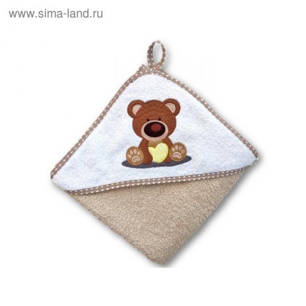 Полотенце для купания «Baby», размер 100 × 100 см, мишка