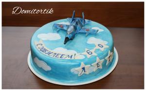 Фото Торты, Тематические торты Торт летчику, истребитель (МИГ, СУ)