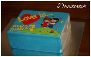 Фото Торты, Тематические торты Торт Love is (Лав из, любовь)