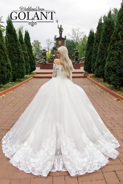 Свадебное платье с рукавами Пастила