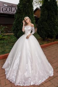 Фото Свадебные платья Свадебное платье с рукавами Пастила