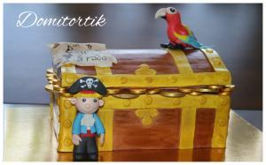 Фото Торты, Детские торты Торт пиратский сундук