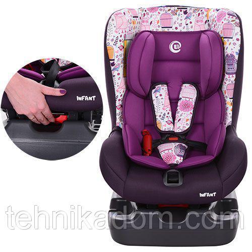 Автокресло детское El Camino ME 1010-1 INFANT до 18 кг Фиолетовый (intME 1010-1-Ф)