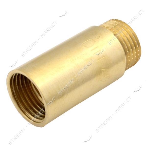 Удлинитель N8790.3 латунь 1/2' L=40 (штамповка)