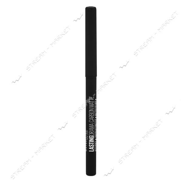 Карандаш для век Maybelline New York Lasting Drama 24H Carbon Matte Черный 2.8г