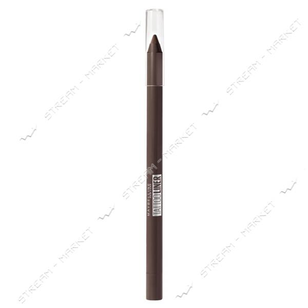 Карандаш для век Maybelline New York Гелевый Tattoo Liner 910 коричневый 1.3г