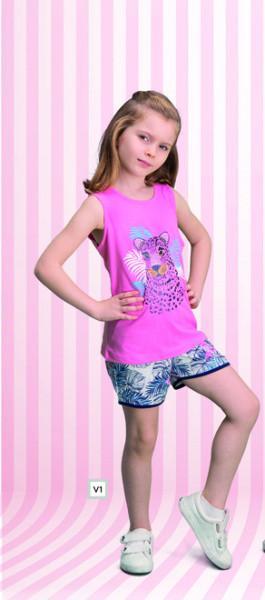 Комплект для девочки майка и шорты ROLYPOLY
