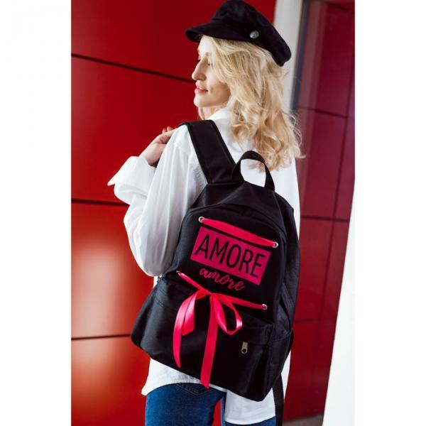 Рюкзак городской, отдел на молнии, цвет чёрный