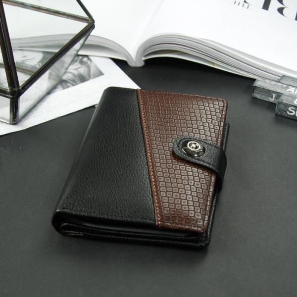 Портмоне мужское 3 в 1 для автодокументов и паспорта, 2 отдела, для карт, для монет, цвет чёрный/кофе