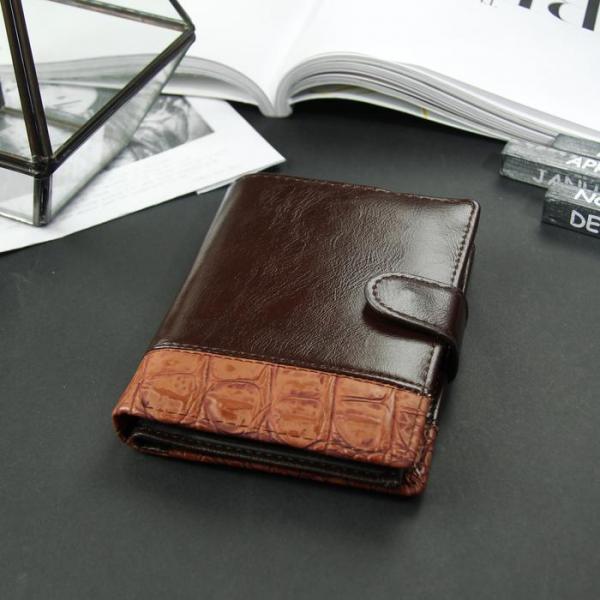 Портмоне мужское 3 в 1 для автодокументов и паспорта, 2 отдела, для карт, для монет, цвет коричневый
