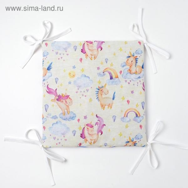 Бортик Крошка Я «Единороги» (32×32 см - 12 шт.) бязь/синтепон