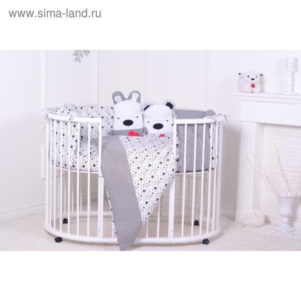 """Комплект в кроватку """"Я родился"""" (6 предметов), хл100%"""