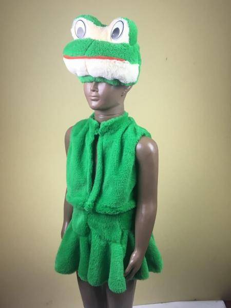 Детский карнавальный новогодний  костюм Лягушка Жаба меховой