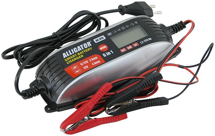 ALLIGATOR AC812 Інтелект. зарядний пристрій 6 в 1, 6/12В, 2/4А, для АКБ 1,2-120 А/год