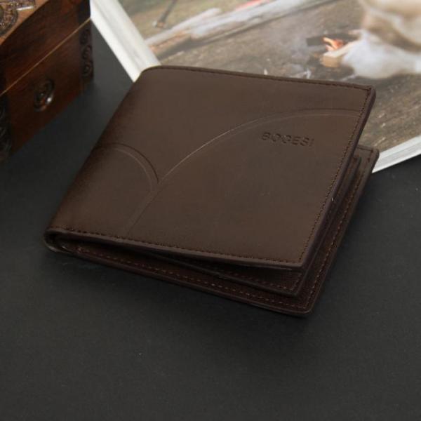 Портмоне мужское, 1 отдел, для карт, монет, цвет коричневый
