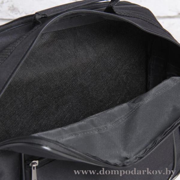 Фото ПОСМОТРЕТЬ ВЕСЬ КАТАЛОГ, Галантерея, Сумки мужские  Сумка деловая, отдел на молнии, наружный карман, цвет чёрный
