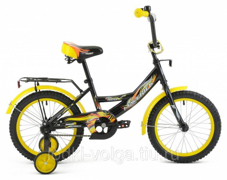 """Велосипед MAVERICK Faster_18"""" P, 10"""" Steel 1-ск. (черный)"""
