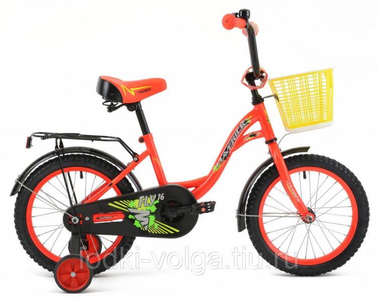 """Велосипед MAVERICK Fly_18"""" P, 10"""" Steel 1-ск. (красный)"""