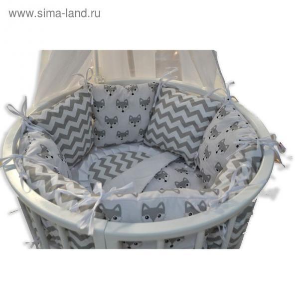 Комплект для прямоугольной кроватки «Друг», 19 предметов