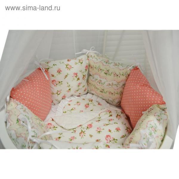 Комплект в круглую кроватку «Нежность», 22 предмета