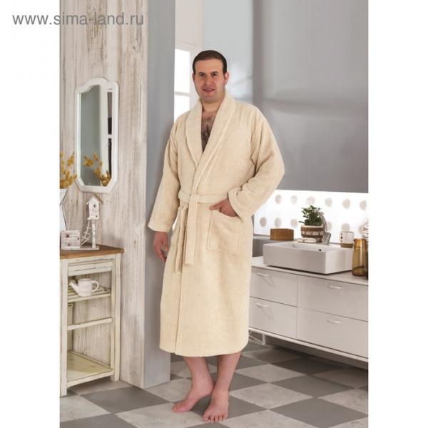 Халат махровый Smart, размер L (50), цвет светло-бежевый, 420 г/м2