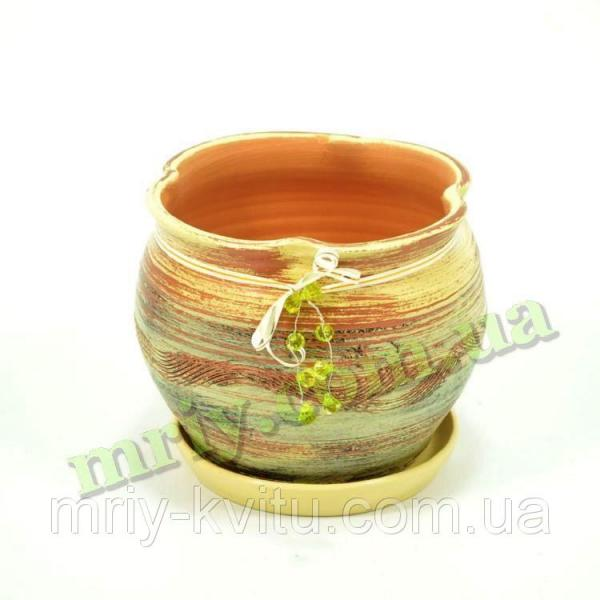 Горшок керамический для цветов Фіалка №2 V2,6